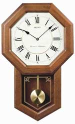 Seiko QXH110BLH Chiming Schoolhouse Clock