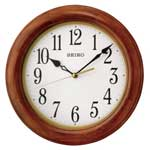 Seiko QXA522BLH Wood Frame Wall Clock
